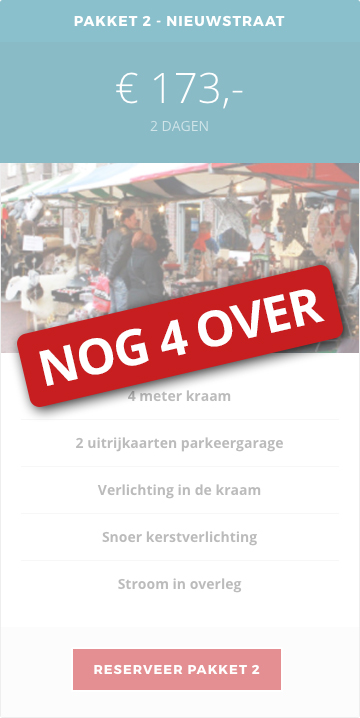Winterfair Woerden Kraam reserveren